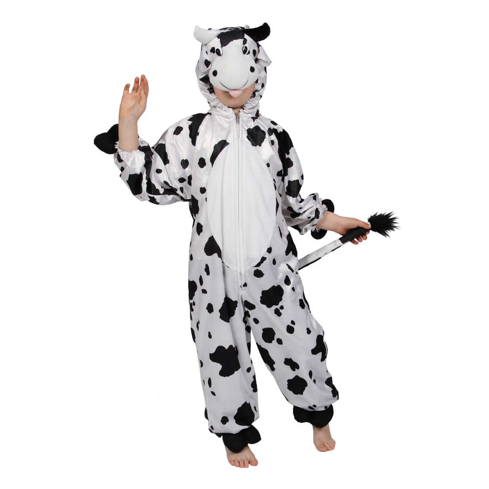 childrens black amp white cow farm yard animal fancy dress