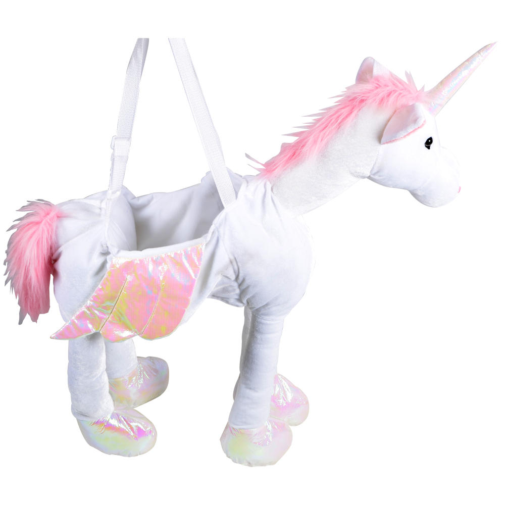 Unicorn Toys For Girls : Childrens pink white ride on unicorn fancy dress up