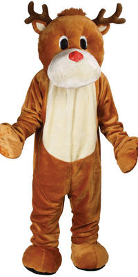 Rudolph The Red Nose Reindeer Giant Mascot Fancy Dress Costume Ideal For Christmas