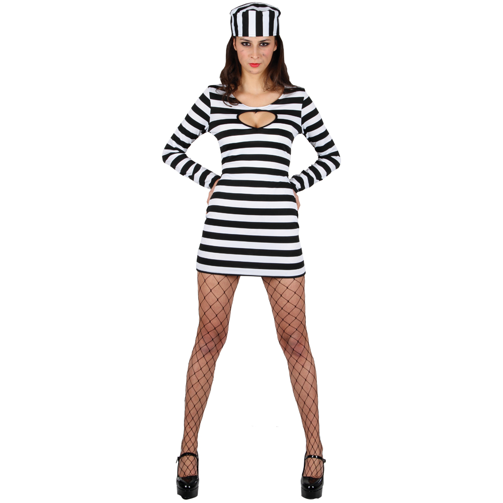 Sexy Convict Prisoner Girl Fancy Dress Costume New | eBay