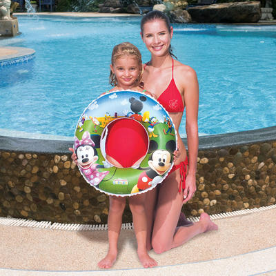 "Disney Minnie Mickey Mouse Clubhouse Inflatable Pool 22"" Swim Ring Age 3-6"