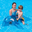 "52"" Inflatable Swimming Pool Beach Float Transparent Blue Whale Rider  Thumbnail 1"
