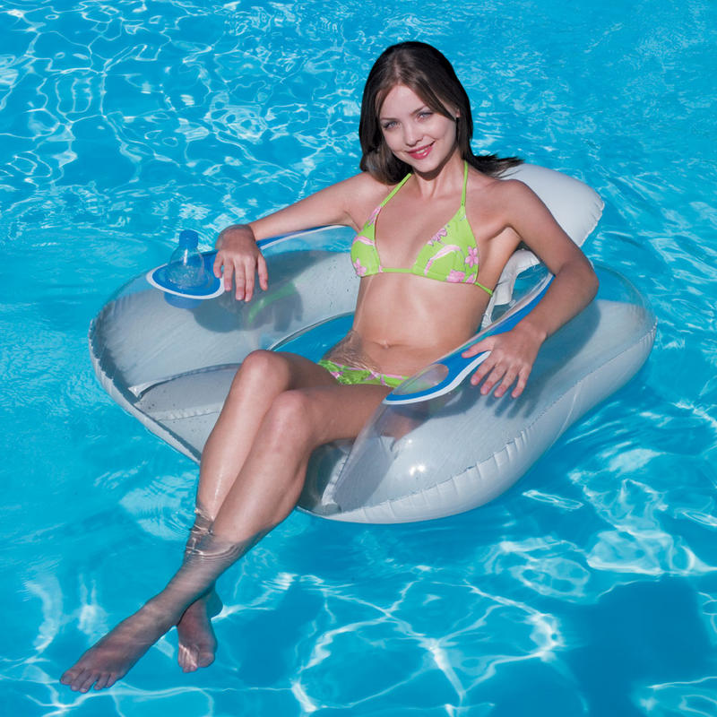 Inflatable Floating Transparaent Swimming Pool Flip Lounge Chair 14
