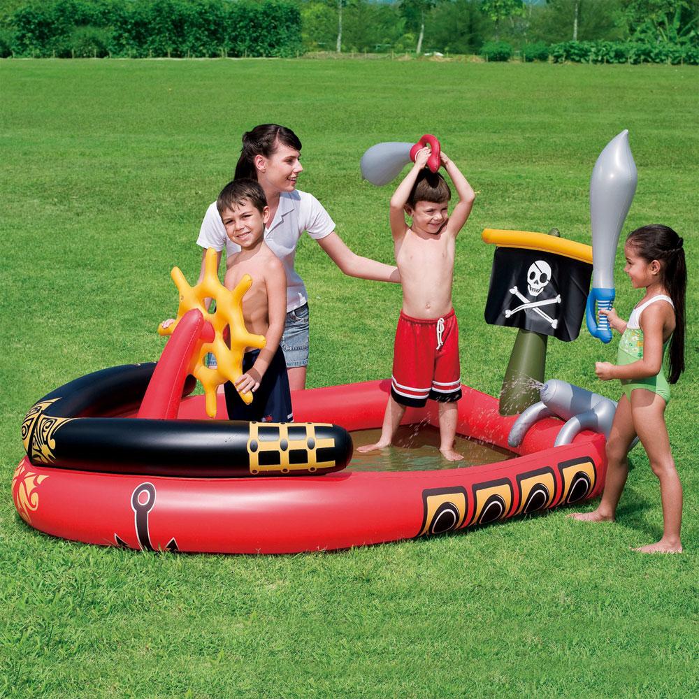 Splash play inflatable pirate ship paddling pool 3 - Inflatable pirate ship swimming pool ...