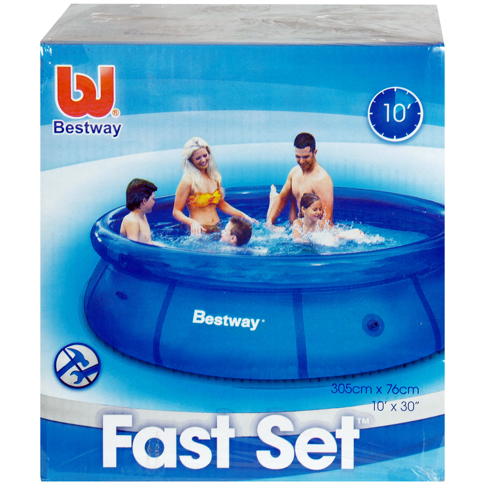 "Bestway Fast Set Inflatable Swimming Pool 10' x 30"" New 