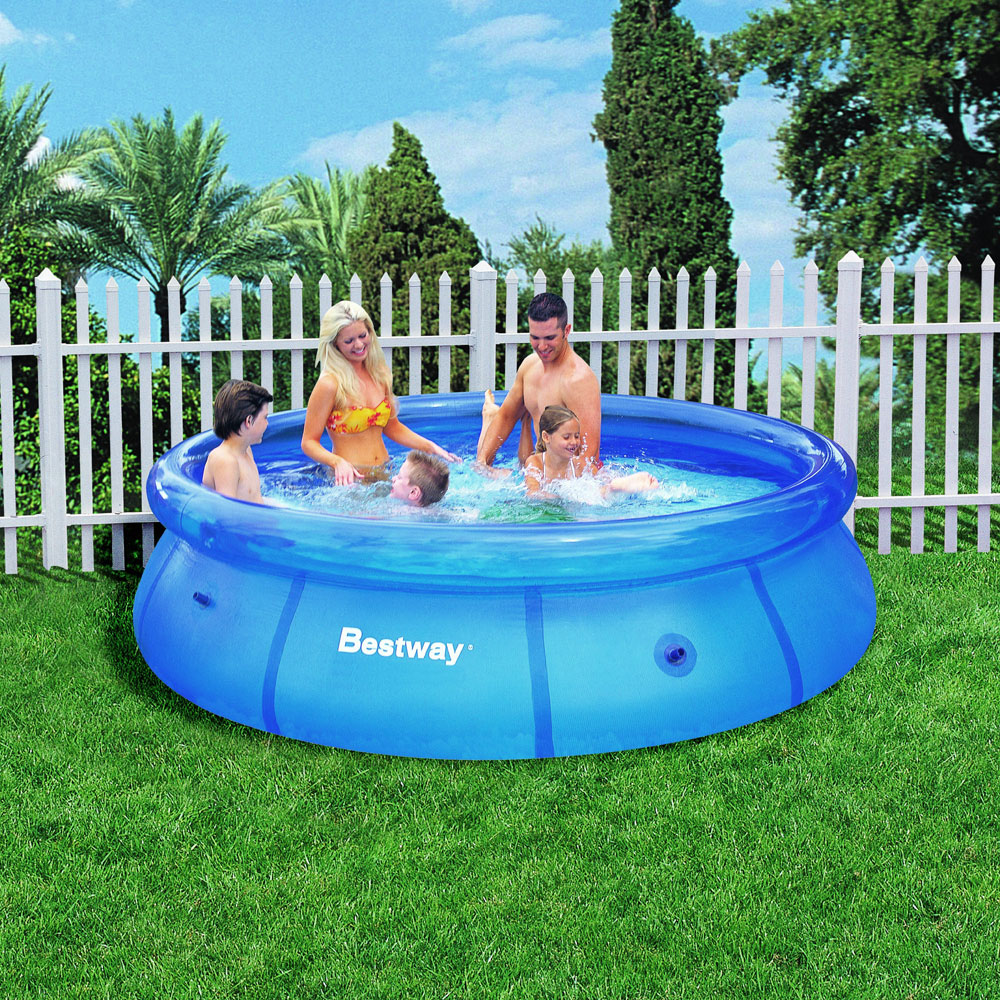 Bestway fast set inflatable swimming pool 10 39 x 30 new ebay Inflatable quick set swimming pool