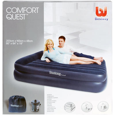 Inflatable   Pump on Bestway Comfort Quest Queen Size Inflatable Air Bed   Pump New Preview