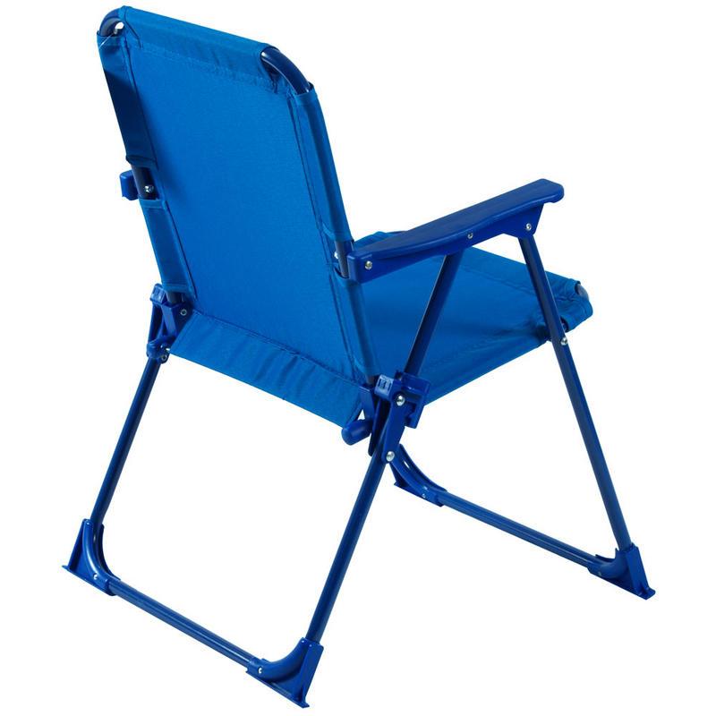 two tone blue foldaway steel frame garden patio