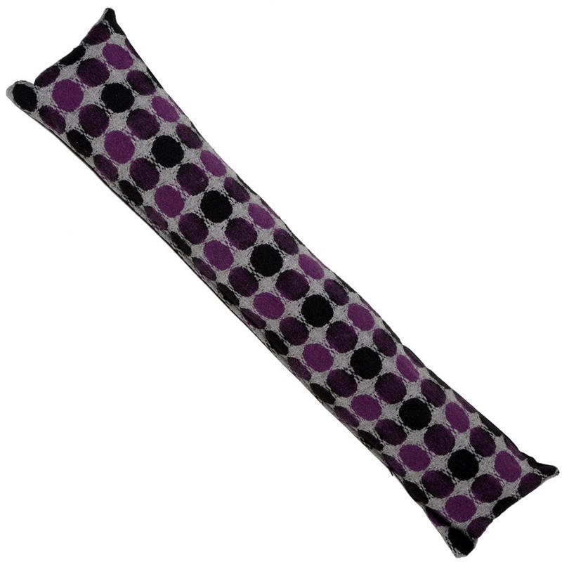 Home door draught excluder cushion mauve purple spot design with removeable cover new - Door cushion pads ...