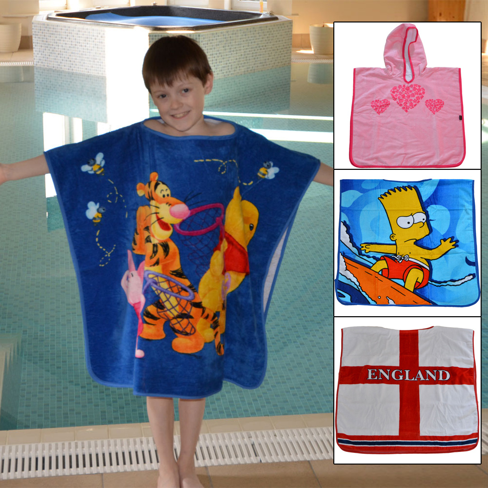 Spoilt Rotten Kids Luxury Ocean Blue With T-Rex Personalised Bath Towel - Vibrant Dinosaur & Any Name Beautifully Embroidered On A Luxury gsm Towel.
