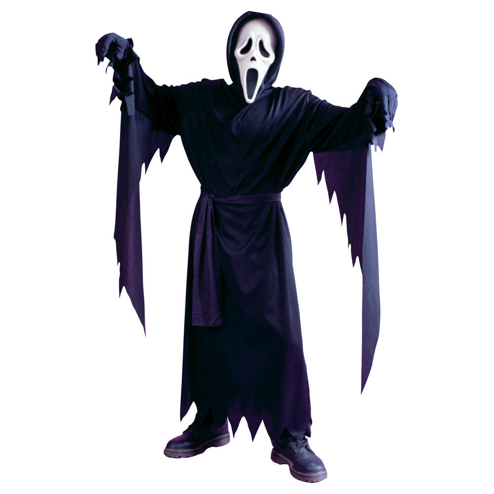 childrens classic ghost face halloween fancy dress scream costum. Black Bedroom Furniture Sets. Home Design Ideas