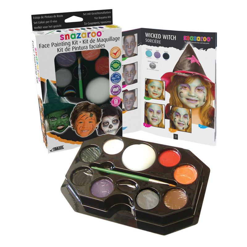 Halloween Themed Fancy Dress Party Snazaroo Face Paint U0026 Makeup Kit