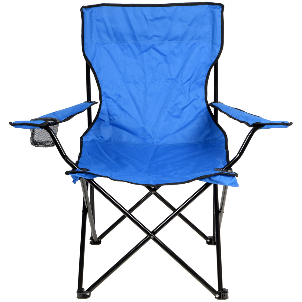 2 x Azuma Folding Camping Outdoor Fishing Arm Chairs