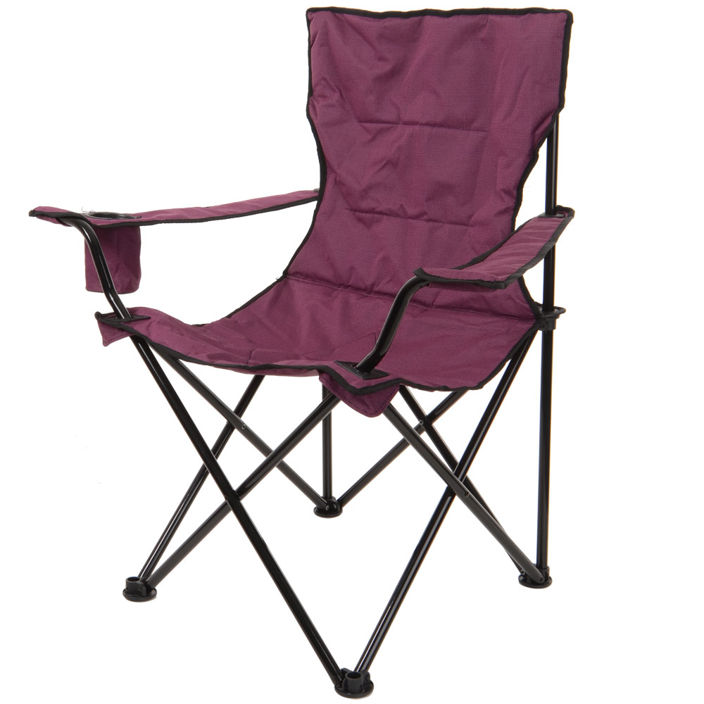 Azuma Deluxe Padded Folding Camping Outdoor Fishing Festival Arm Chair Seat N