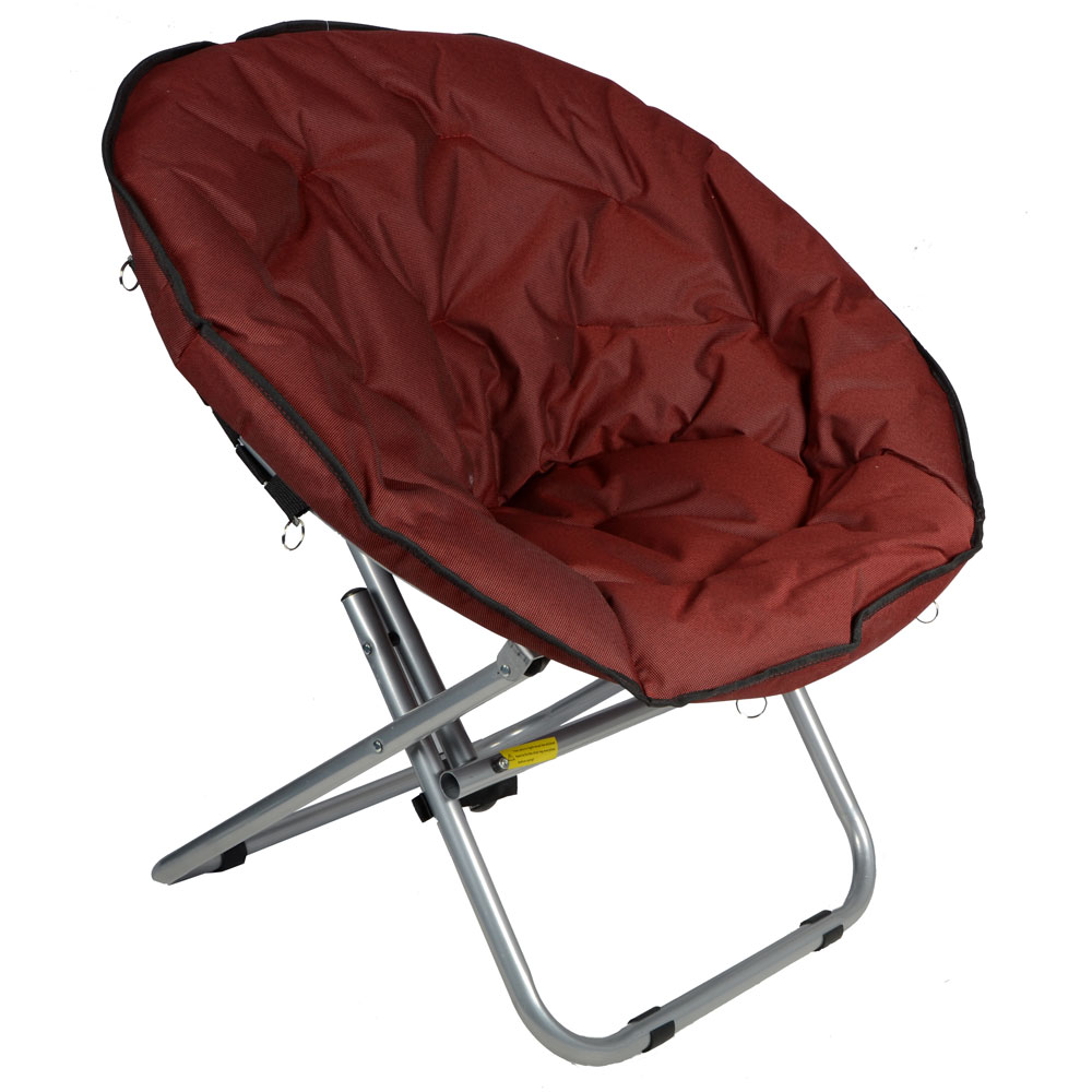 Azuma Adults Padded Folding Outdoor Camping Festival Garden Moon Chair Seat New