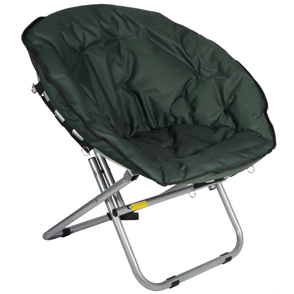 Azuma Adults Padded Folding Outdoor Camping Festival Garden Moon Chair Seat N