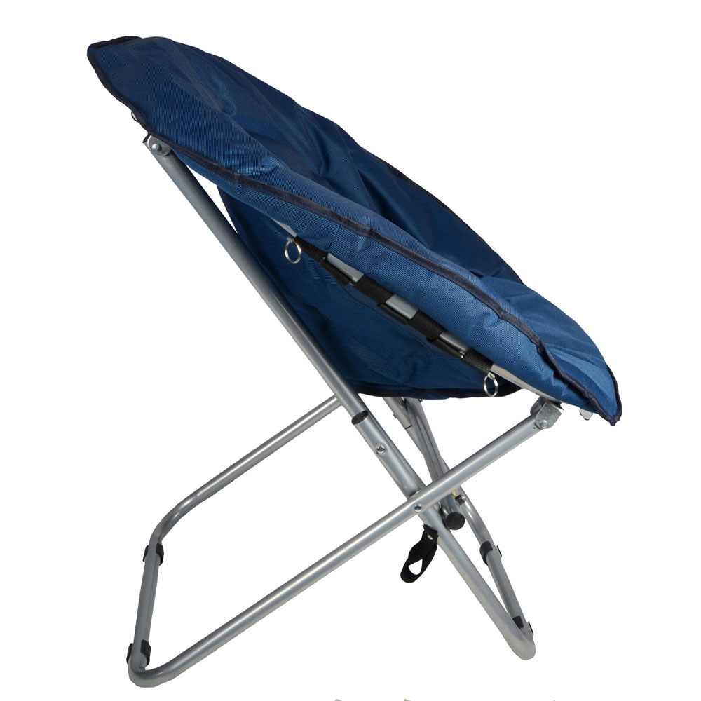 Blue Padded Folding Outdoor Garden Moon Chair Seat New EBay