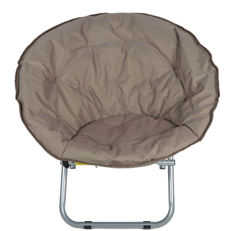 ... Garden Camping Festival Circular Moon Chair Seat - Brown Thumbnail 2