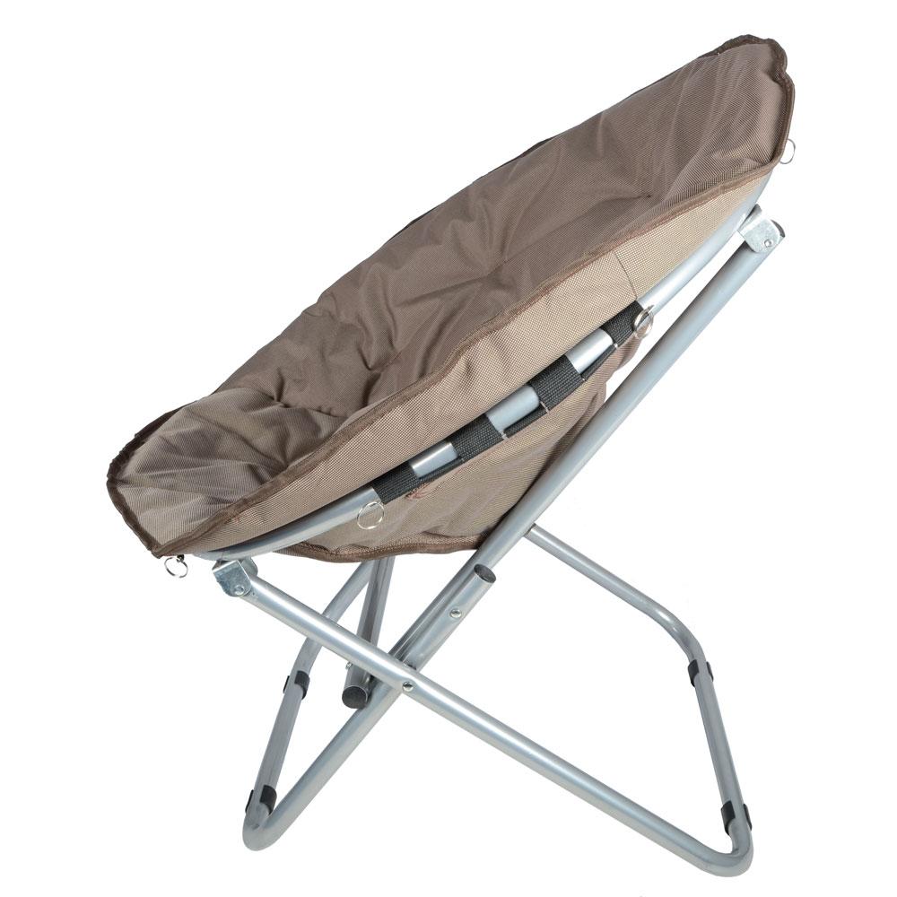 Padded Folding Outdoor Garden Moon Chair Cappuccino New EBay