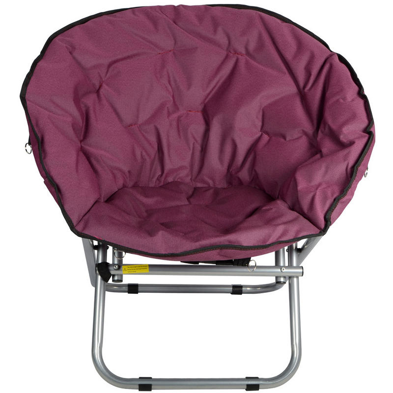 Azuma Padded Folding Outdoor Garden Camping Festival Circular Moon Chair Seat