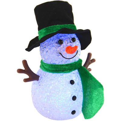 Festive 13cm Colour Changing Red Snowman Twig Arm Xmas Decoration
