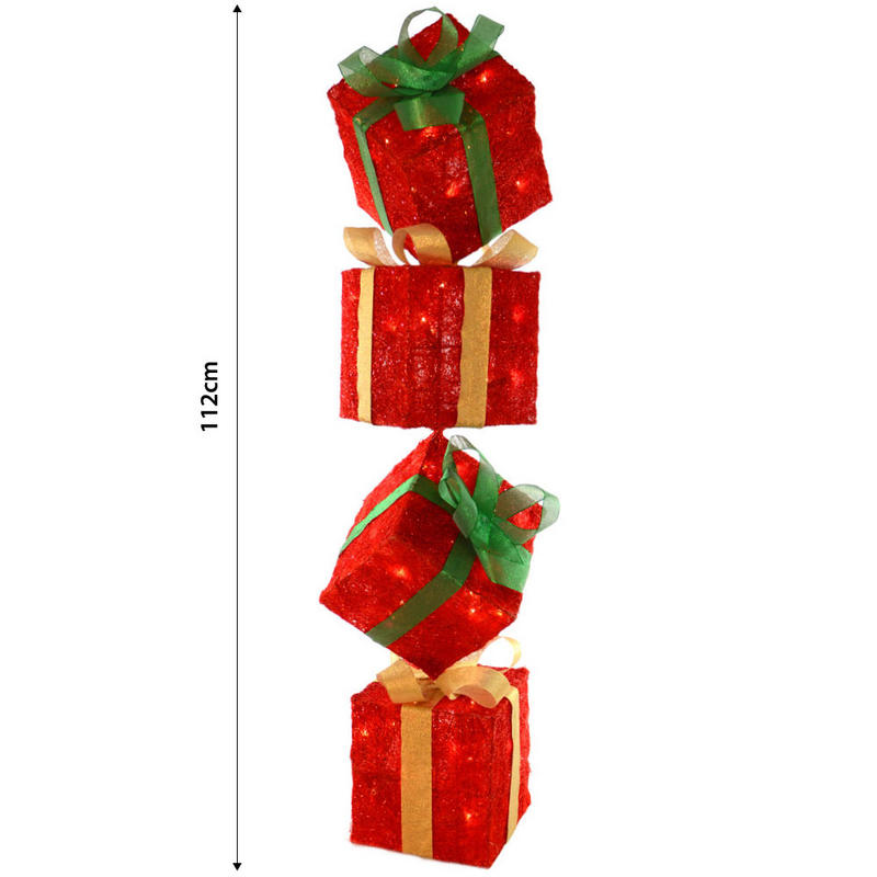 Christmas Box Decorations Part - 24: Light Up Christmas Present Decorations - Christmas Lights Card And Decore