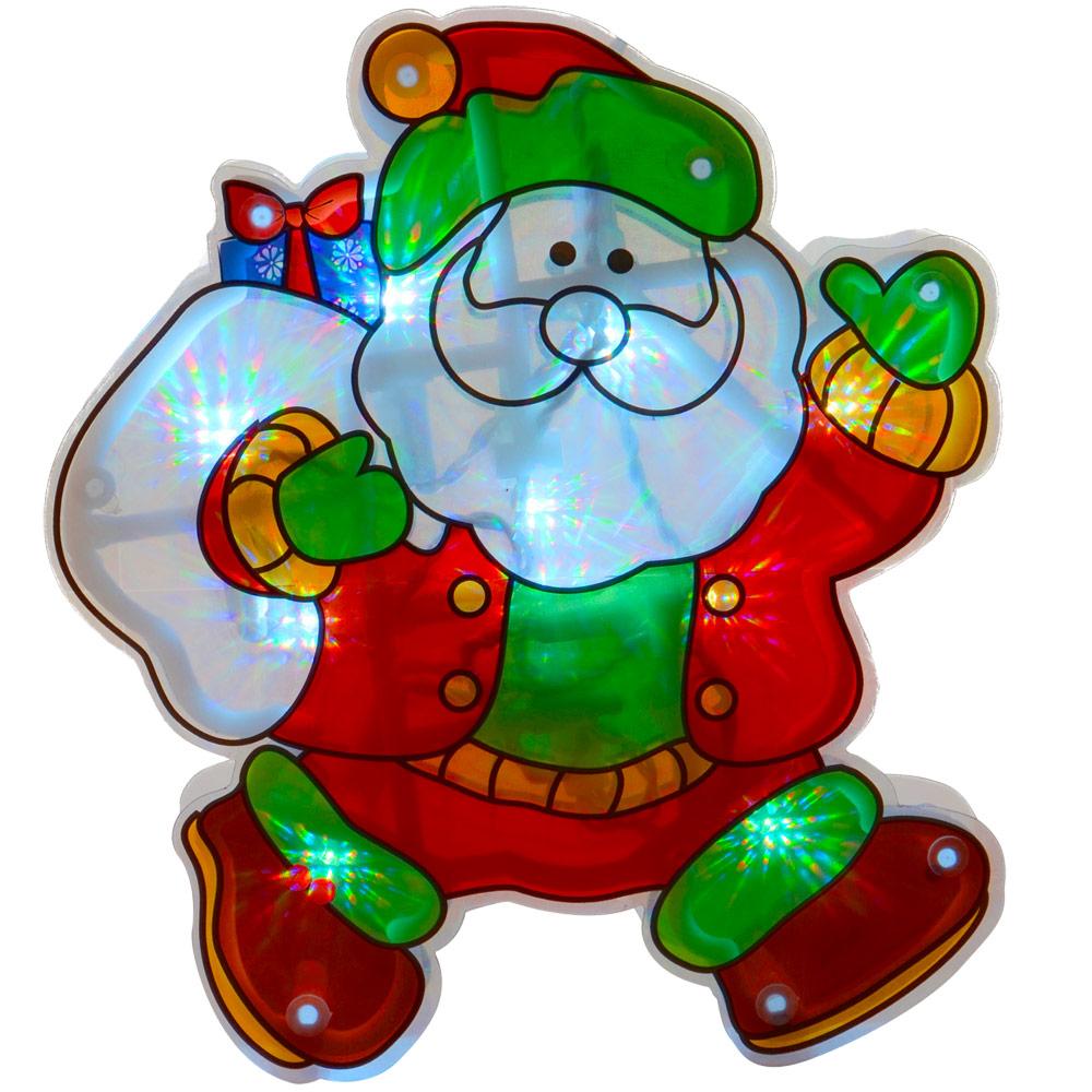 PVC-Light-Up-Christmas-Silhouette-Window-Suction-Decoration-10-White-LED-Lights