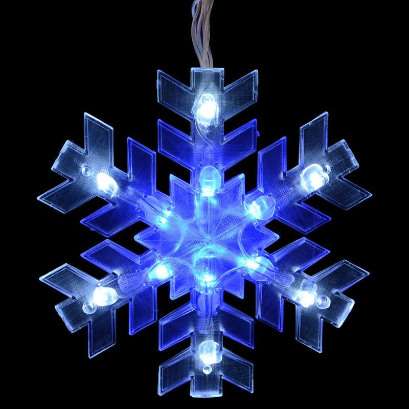 Mains Voltage 5 Piece Snowflake Curtain Christmas Festive