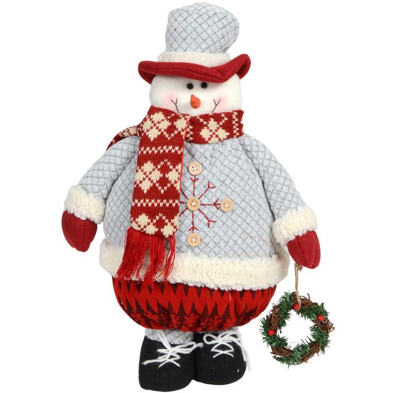 Cute 45cm standing snowman christmas xmas festive for Christmas snowman decorations