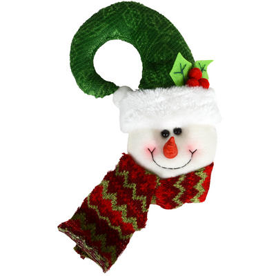 Hook Shaped Festive Snowman Head Door Knob Handle Hanger Christmas Decoration