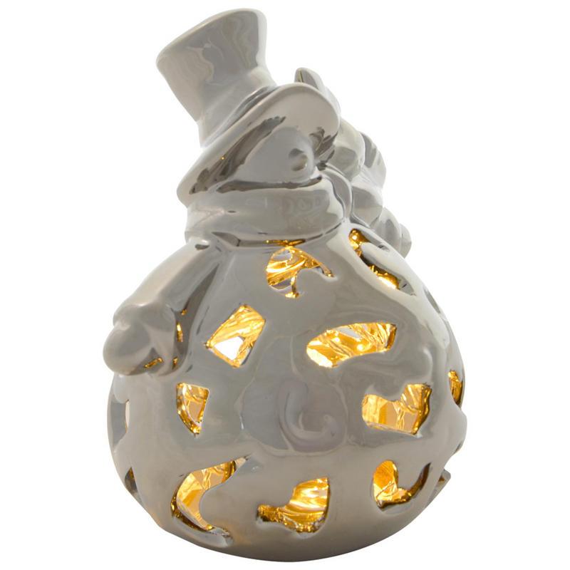 Ceramic Light Up Christmas Tree Uk: Festive Porcelain Light Up Battery Operated Warm White LED