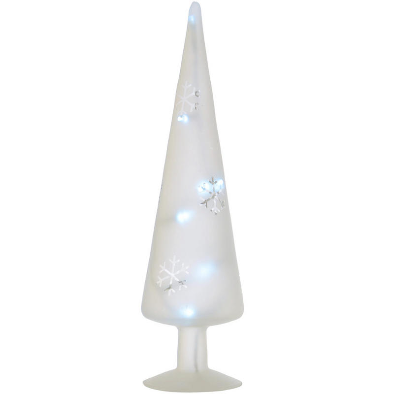 ... Up White LED Frosted Glass Tree Christmas Table Decoration Ornament