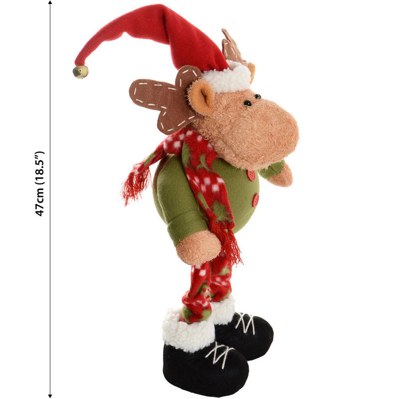 47cm cute festive standing reindeer xmas christmas for Christmas reindeer decorations