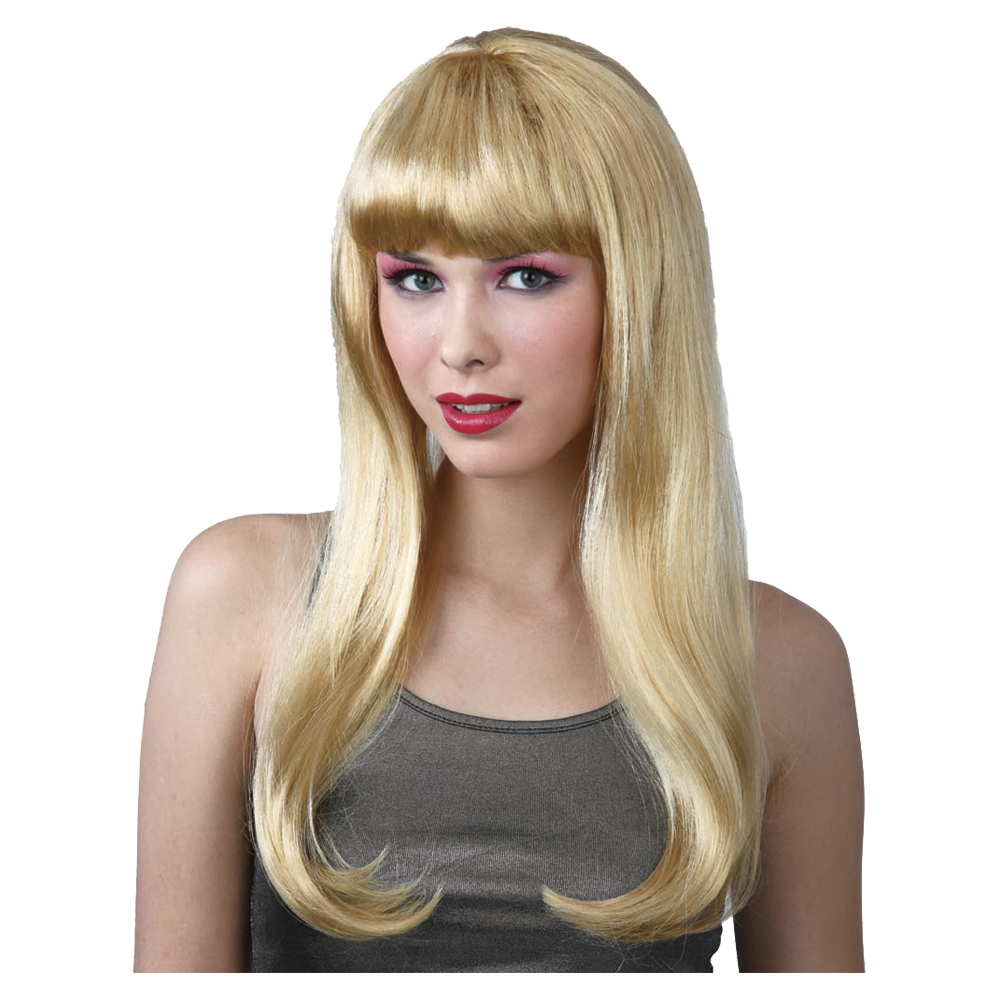 New Fantasy Blonde Long Blonde Fancy Dress Party Halloween Wig With Fringe