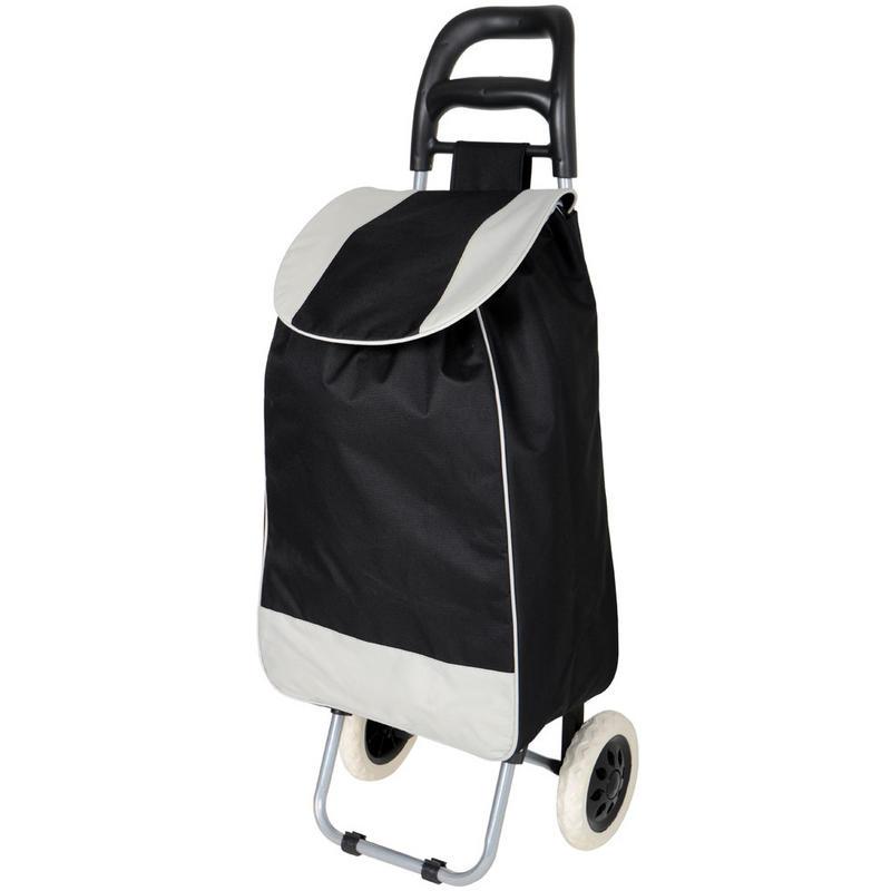 Black Folding Wheeled Grocery Cart Shopping Trolley Bag