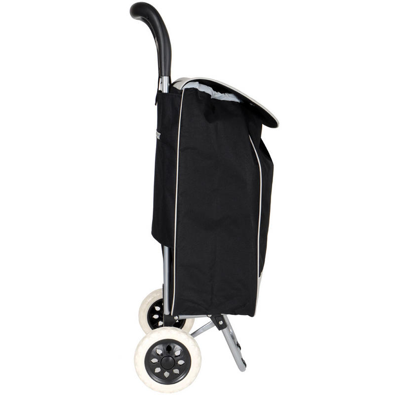 Black Folding Wheeled Grocery Cart Shopping Trolley Bag : lrgXS0666 black festival trolley31000 <strong>Big and Tall</strong> Office Chairs from www.xs-stock.co.uk size 800 x 800 jpeg 28kB