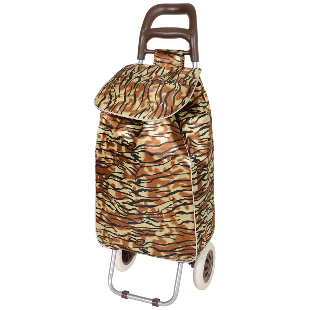 Tiger Folding Wheeled Grocery Shopping Trolley Bag New