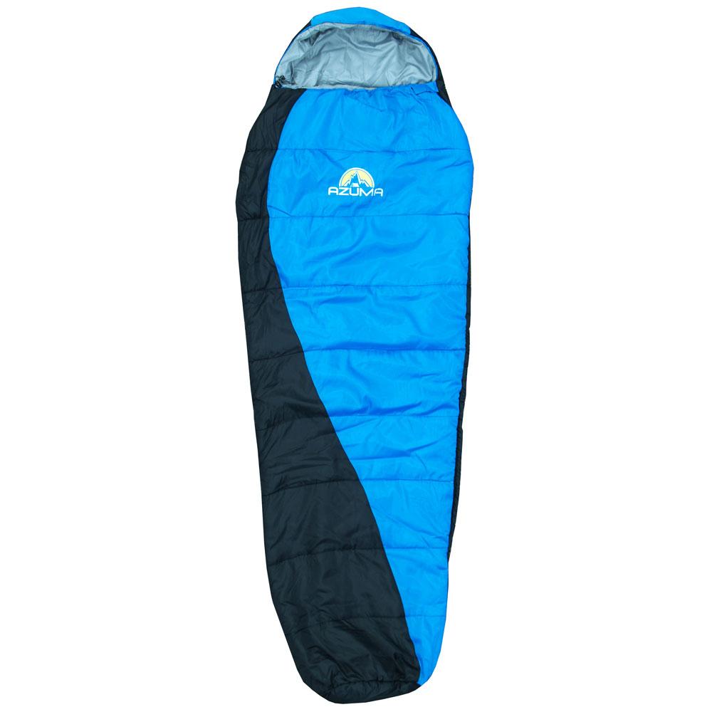 3 Season Sleeping Bag Azuma Mummy Shape Warm Zipped Ideal Camping Many Colours