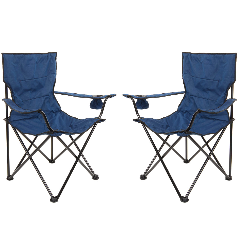 2 X Azuma Deluxe Padded Folding Camping Outdoor Festival
