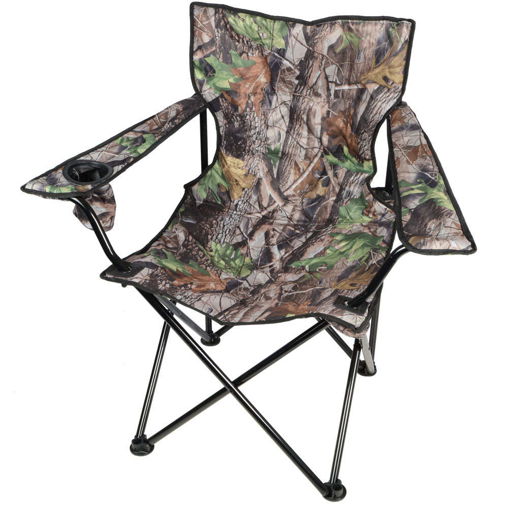 2 Azuma Deluxe Padded Camping Festival Arm Chairs Camo
