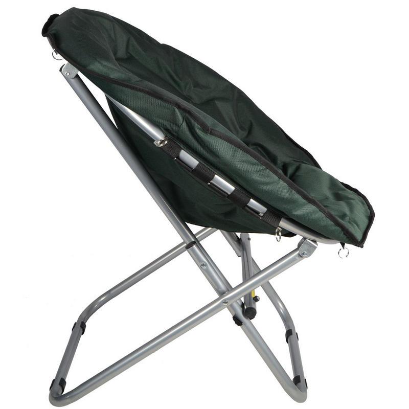 2 x Azuma Padded Folding Outdoor Camping Festival Garden Moon Chair Seat Green