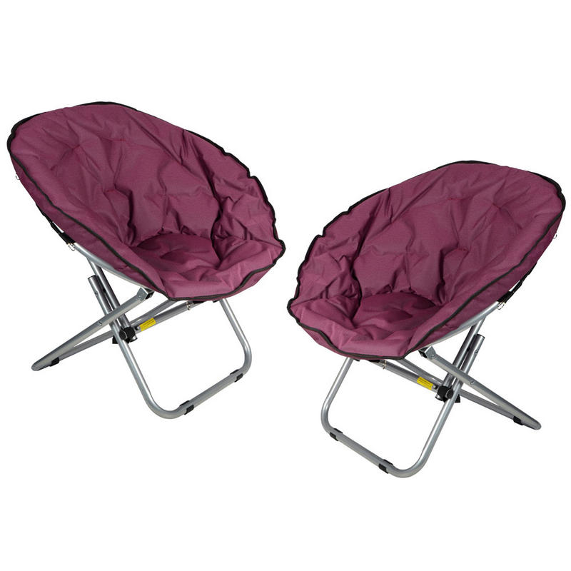 Outdoor camping festival garden moon chair seat purple preview