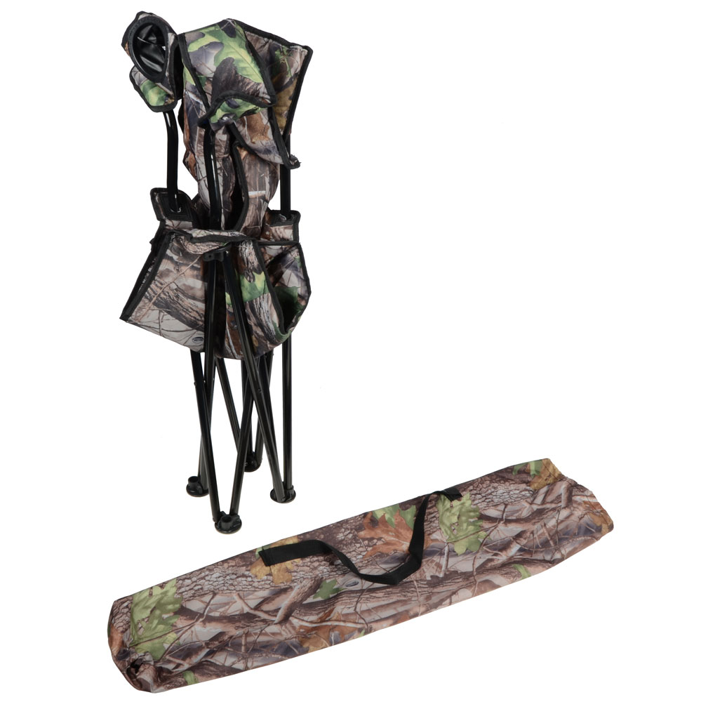 Camo Deluxe Folding Outdoor Camping Arm Chair Seat New