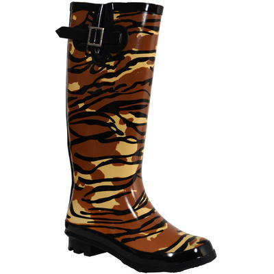 Womens Fashion Shoes Size on Ladies Funky Festival Fashion Wellies Wellington Boots Animal Print Uk