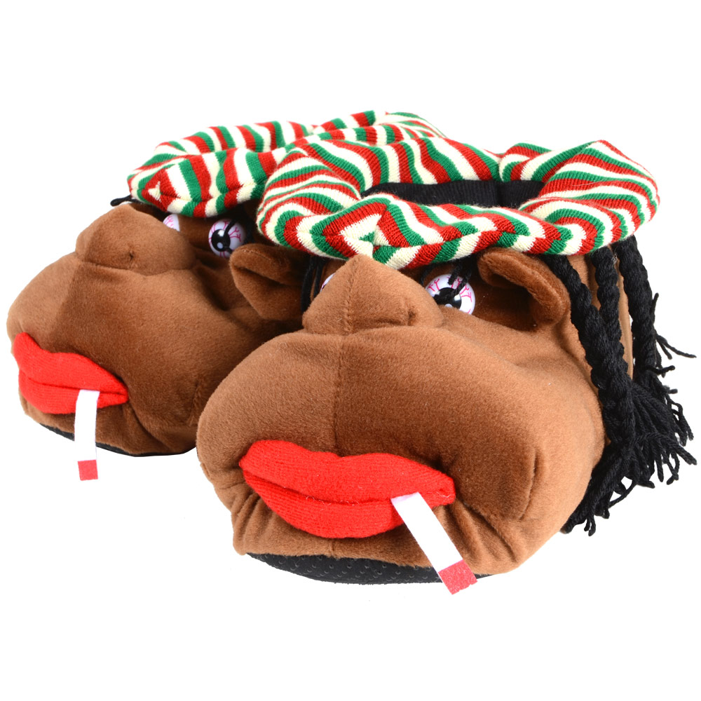 Mens-Slippers-Cosy-Rasta-Man-Character-Plush-Novelty-Slippers-With-Grip-Sole