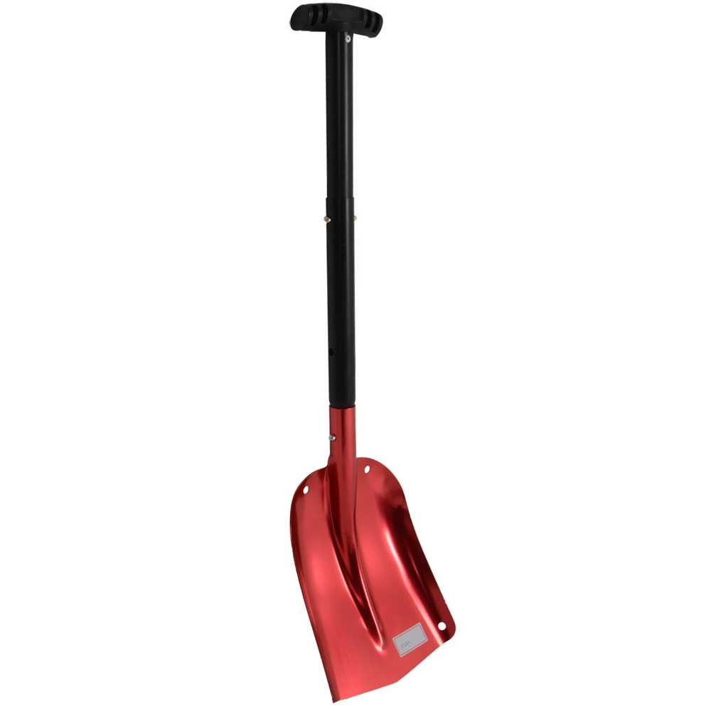Snow Shovel - Red Anodised Aluminium Emergency Car Telescopic Snow Shovel Spade