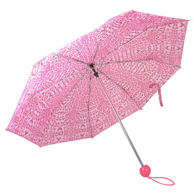 Drizzles Ladies Super Mini Brolly Umbrella Pink Leopard Design