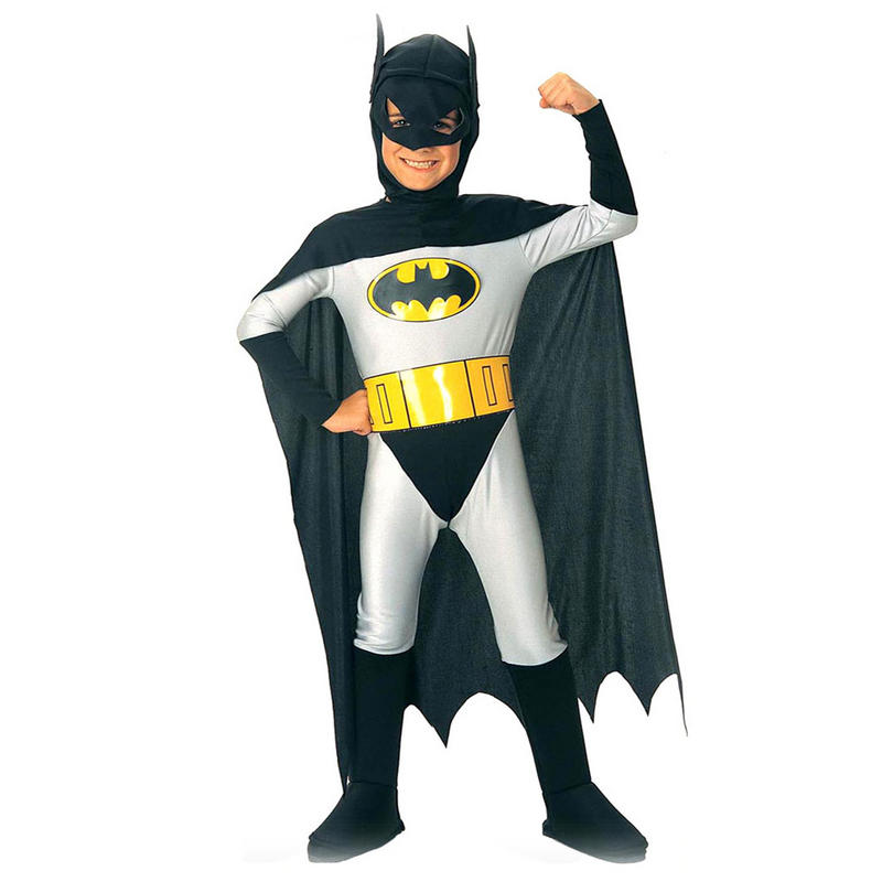 boys batman classic super hero fancy dress costume age 8 10 years. Black Bedroom Furniture Sets. Home Design Ideas