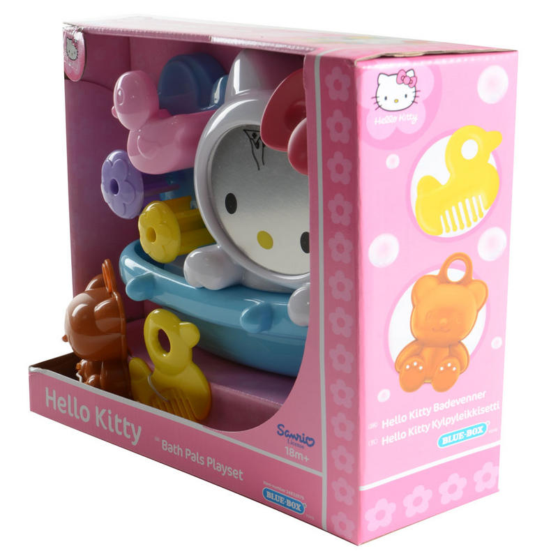 hello kitty bath tub pals kids bath tub playset with teddy and duck. Black Bedroom Furniture Sets. Home Design Ideas
