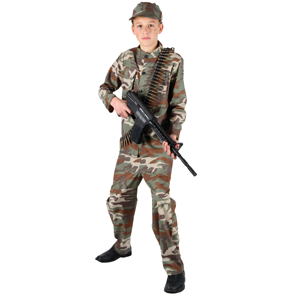 Image is loading Action-Commando-Military-Army-Soldier-Boys-Teen-Fancy- - Action Commando Military Army Soldier Boys Teen Fancy Dress